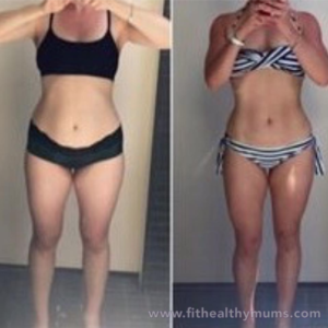 Kirsty's before & after images