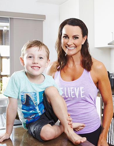 Justine Switalla & son Leo